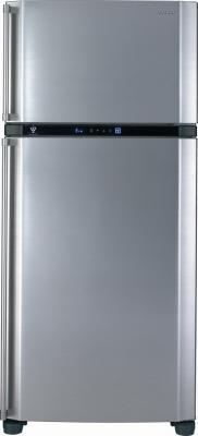 Холодильник с морозильником Sharp SJ-SC680VSL - вид спереди