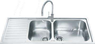 Мойка кухонная Smeg LGM116S - общий вид