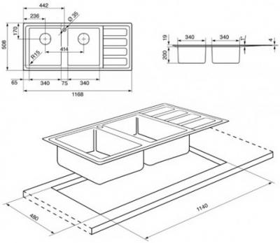 Мойка кухонная Smeg LD116D - общий вид