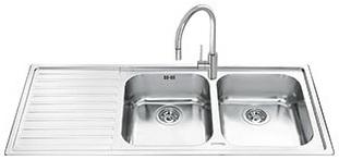 Мойка кухонная Smeg LL116S - общий вид