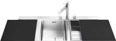Мойка кухонная Smeg LQVA116S - общий вид