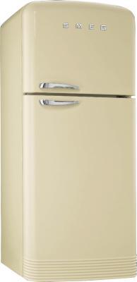 Холодильник с морозильником Smeg FAB50PSP - Вид спереди