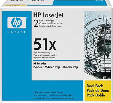 Комплект тонер-картриджей HP 51x (Q7551XD) - общий вид