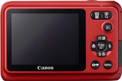 Компактный фотоаппарат Canon PowerShot A800 Red - Вид сзади