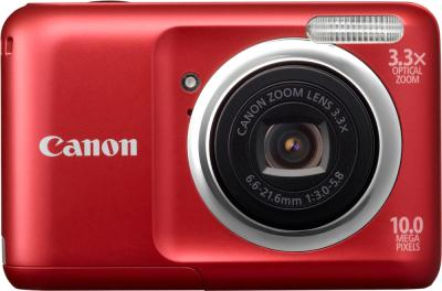 Компактный фотоаппарат Canon PowerShot A800 Red - Вид спереди
