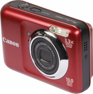 Компактный фотоаппарат Canon PowerShot A800 Red - Вид сбоку