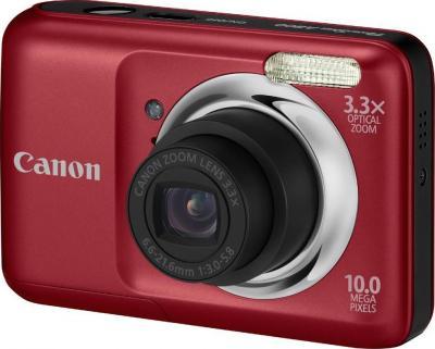 Компактный фотоаппарат Canon PowerShot A800 Red - Общий вид