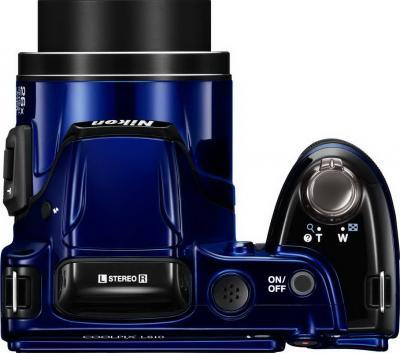 Компактный фотоаппарат Nikon COOLPIX L810 Blue - вид сверху