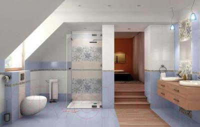 Декоративная плитка для ванной Ceramika Paradyz Tirani Blue C (333x250)