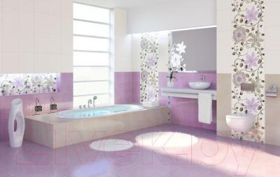 Бордюр для ванной Ceramika Paradyz Tirani Viola (250x30)