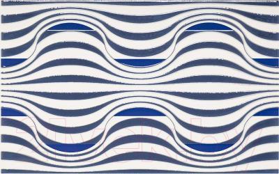 Декоративная плитка для ванной Ceramika Paradyz Vivian Blue Fala (400x250)