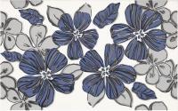 Декоративная плитка для ванной Ceramika Paradyz Vivian Blue Kwiat (400x250) -