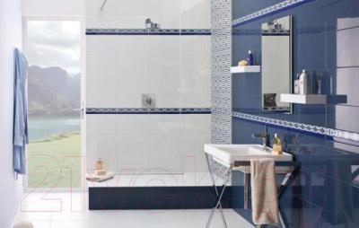 Декоративная плитка для ванной Ceramika Paradyz Vivian Blue Kwiat (400x250)