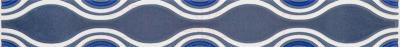 Бордюр Ceramika Paradyz Vivian Blue Fala (400x48)