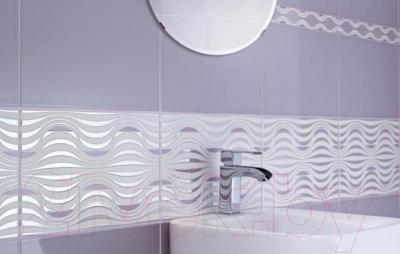 Декоративная плитка для ванной Ceramika Paradyz Vivian Nero Fala (400x250)