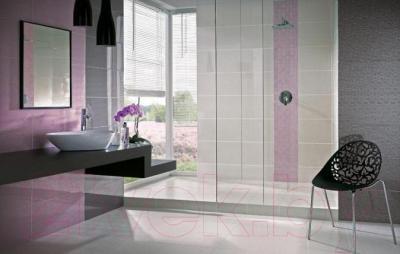 Декоративная плитка для ванной Ceramika Paradyz Tessita Bianco C (600x300)