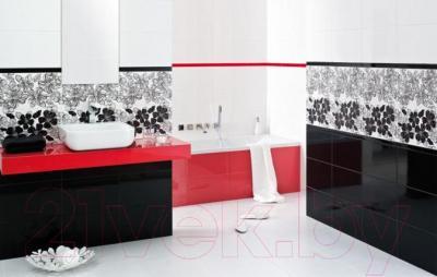 Бордюр для ванной Ceramika Paradyz Vivian Nero Fala (400x48)
