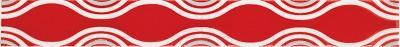 Бордюр для ванной Ceramika Paradyz Vivian Rosa Fala (400x48)