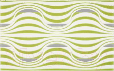 Декоративная плитка для ванной Ceramika Paradyz Vivian Verde Fala (400x250)