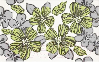 Декоративная плитка для ванной Ceramika Paradyz Vivian Verde Kwiat (400x250)