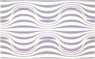 Декоративная плитка для ванной Ceramika Paradyz Vivian Viola Fala (400x250)
