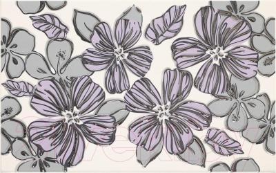 Декоративная плитка Ceramika Paradyz Vivian Viola Kwiat (400x250)