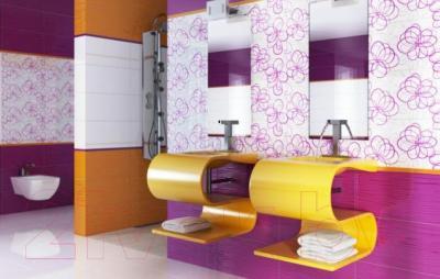 Декоративная плитка для ванной Ceramika Paradyz Vivida Giallo (600x300)