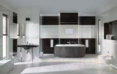 Бордюр для ванной Ceramika Paradyz Brokat Silver (595x23)