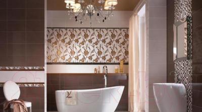 Бордюр для ванной Ceramika Paradyz Wenge (400x30)