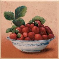 Декоративная плитка для кухни Ceramika Paradyz Gloria Beige Truskawka (100x100) -