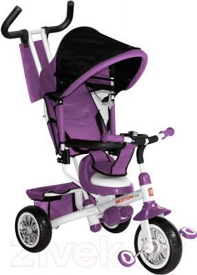 Детский велосипед с ручкой Bertoni B302A (фиолетовый)