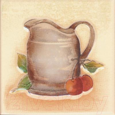 Декоративная плитка для кухни Ceramika Paradyz Vanila Beige Mlecznik (100x100)