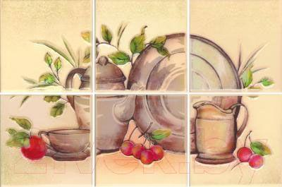 Декоративная плитка для кухни Ceramika Paradyz Панно Vanila Beige (300x200)