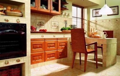 Плитка для стен кухни Ceramika Paradyz Vanilla Beige (100x100)