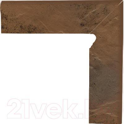 Цоколь клинкерный Ceramika Paradyz Semir Beige (300x80, правый)
