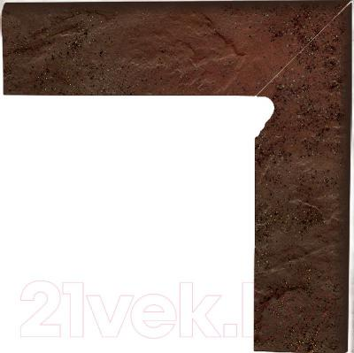 Цоколь клинкерный Ceramika Paradyz Semir Brown (300x80, правый)