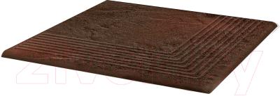 Ступень Ceramika Paradyz Semir Brown Narozna (300x300)