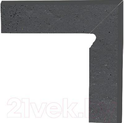 Цоколь клинкерный Ceramika Paradyz Semir Grafit (300x80, правый)