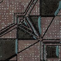 Декоративная  плитка для пола Ceramika Paradyz Lensitile Grafit (72x72) -