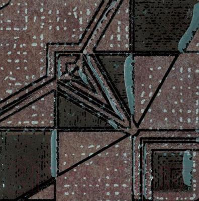 Декоративная плитка Ceramika Paradyz Lensitile Grafit (72x72)