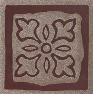 Декоративная  плитка для пола Ceramika Paradyz Tremont Brown B (98x98)