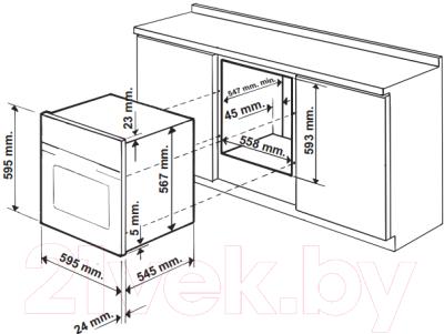 Электрический духовой шкаф Hotpoint FH 1039 P 0 IX/HA