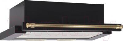 Вытяжка телескопическая Teka LS 60 / В40000011 (антрацит/латунь)