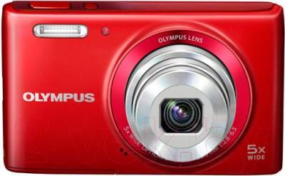 Компактный фотоаппарат Olympus VG 180 (красный)