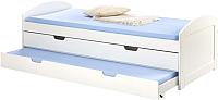 Двуспальная кровать Halmar Laguna (белый) -