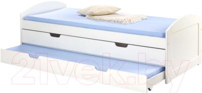 Двуспальная кровать Halmar Laguna (белый)
