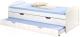 Односпальная кровать Halmar Laguna (белый) -