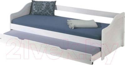 Двухъярусная кровать Halmar Leonie (белый)