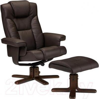 Кресло офисное Halmar Borneo (темно-коричневый)