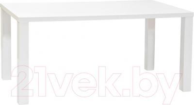 Обеденный стол Halmar Ronald 120/160 (белый)